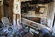 Inside of an apartment at Presspark in the upper 9th ward of New Orleans. Presspark was built on top of a Superfund site. It remains blighted since hurricane Katriana.