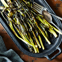 sweet braised whole scallions