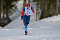 MIKHAYLOV Kirill competing in the Nordic Skiing XC Long Distance at the 2014 Sochi Winter Paralympic Games, Russia