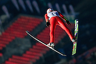Dawid Kubacki of Poland competes in qualifiction during FIS World Cup Ski Jumping competition in Zakopane, Poland on January 17, 2014.<br /> <br /> Poland, Zakopane, January 17, 2014.<br /> <br /> Picture also available in RAW (NEF) or TIFF format on special request.<br /> <br /> For editorial use only. Any commercial or promotional use requires permission.<br /> <br /> Mandatory credit:<br /> Photo by © Adam Nurkiewicz / Mediasport