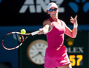 Australian Samantha Strosur in Day 1 Australian Open play. Stosur beat Klara Zakopalova (CZE) 6-3, 6-4 in first round play of the 2014 Australian Open at Melbourne's Rod Laver Arena. beat Klara Zakopalova (CZE) 6-3, 6-4 in first round play of the 2014 Australian Open at Melbourne's Rod Laver Arena.