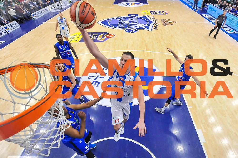 Darko Planinic<br /> Banco di Sardegna Dinamo Sassari - Germani Basket Leonessa Brescia<br /> Legabasket Serie A LBA PosteMobile 2017/2018<br /> Sassari, 08/04/2018<br /> Foto L.Canu / Ciamillo-Castoria