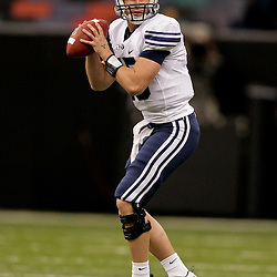 Sep 12, 2009; New Orleans, LA, USA; BYU Cougars quarterback Max Hall (15) against the Tulane Green Wave in the first half at the Louisiana Superdome.  BYU defeated Tulane 54-3. Mandatory Credit: Derick E. Hingle-US PRESSWIRE