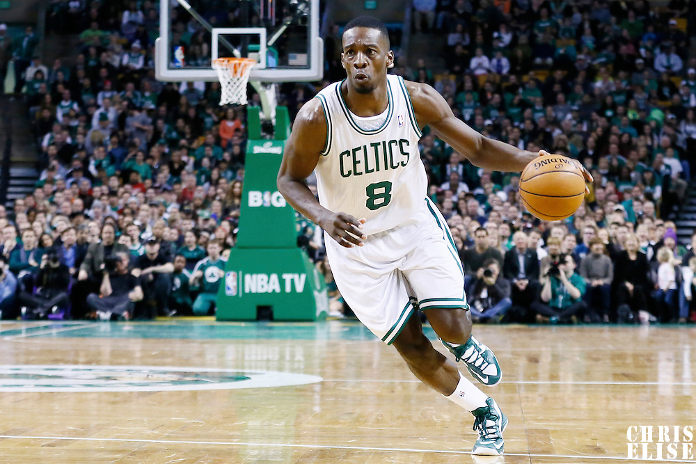 27 January 2013: Boston Celtics power forward Jeff Green (8) drives to the basket during the Boston Celtics 100-98  2OT victory over the Miami Heat at the TD Garden, Boston, Massachusetts, USA.