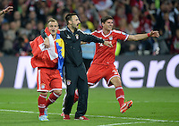 FUSSBALL  CHAMPIONS LEAGUE  SAISON 2012/2013  FINALE  Borussia Dortmund - FC Bayern Muenchen         25.05.2013 Champions League Sieger 2013 FC Bayern Muenchen: Xherdan Shaqiri, Diego Contento und Mario Gomez jubeln