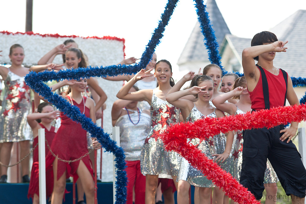 Members of the Lets Dance studio perform at the 2010 Pitman NJ 4th of July Parade.