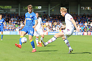 AFC Wimbledon midfielder Tom Beere (16) during the EFL Sky Bet League 1 match between AFC Wimbledon and Bolton Wanderers at the Cherry Red Records Stadium, Kingston, England on 13 August 2016. Photo by Stuart Butcher.
