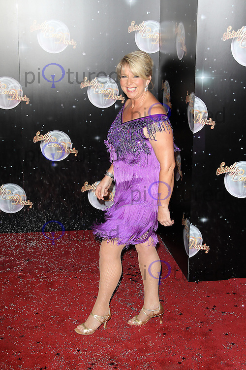 LONDON - SEPTEMBER 11: Fern Britton attended the Strictly Come Dancing Launch at the BBC Television Centre, London, UK. September 11, 2012. (Photo by Richard Goldschmidt)