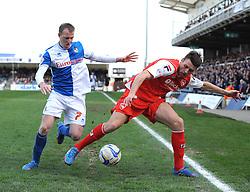 Bristol Rovers' David Clarkson battles for the ball  - Photo mandatory by-line: Joe Meredith/JMP - Mobile: 07966 386802 25/03/2014 - SPORT - FOOTBALL - Bristol - Ashton Gate - Bristol City v Port Vale - Sky Bet League One