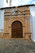 Historic church doorway, Nuestra Señora de la Regla, Pajara, Fuerteventura, Canary Islands, Spain