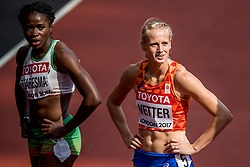 05-08-2017 IAAF World Championships Athletics day 2, London<br /> Anouk Vetter NED (zevenkamp) in actie op de 100 meter horden.