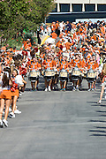 AUSTIN, TX - AUGUST 30:  The Texas Longhorns band leads the team during the Stadium Stampede as they enter the stadium before kickoff against the North Texas Mean Green on August 30, 2014 at Darrell K Royal-Texas Memorial Stadium in Austin, Texas.  (Photo by Cooper Neill/Getty Images) *** Local Caption ***