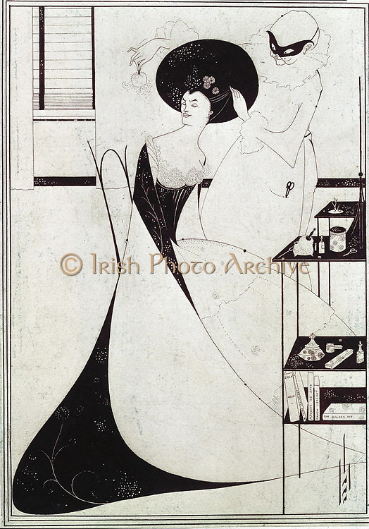 The Toilette of Salome'. Illustration for Oscar Wilde 'Salome', second version. Aubrey Beardsley (1872-1898) English Illustrator.