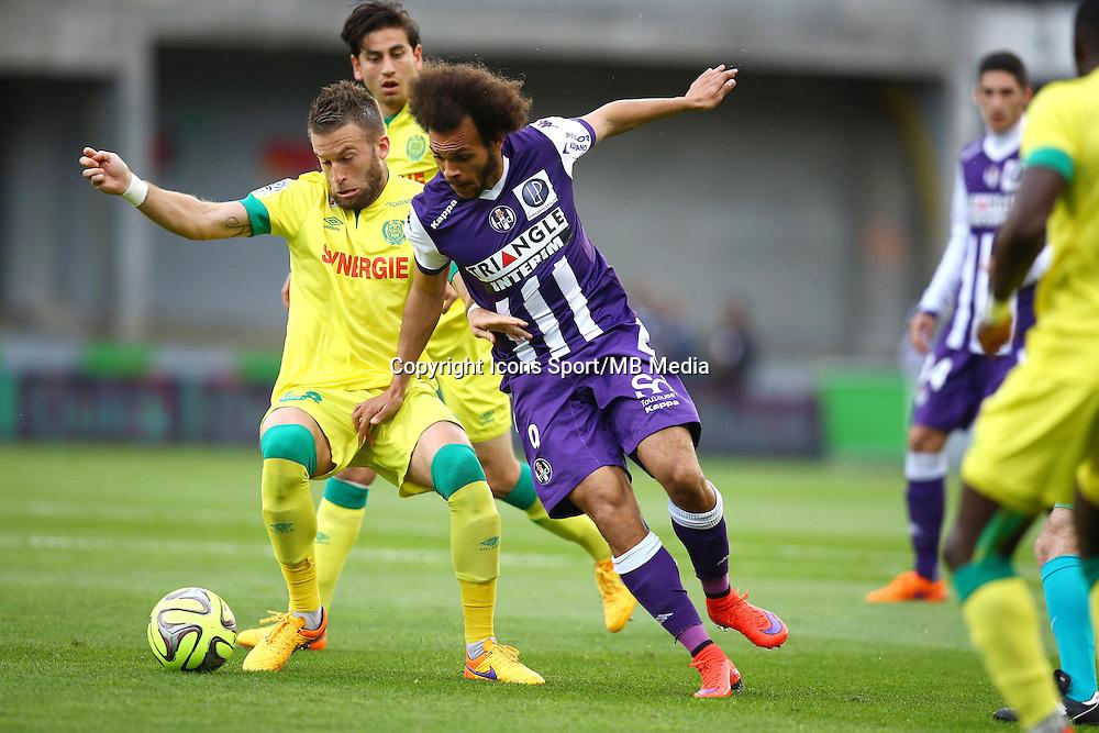 Martin Braithwaite / Lucas Deaux - 25.04.2015 - Toulouse / Nantes - 34eme journee de Ligue 1<br />Photo : Manuel Blondeau / Icon Sport