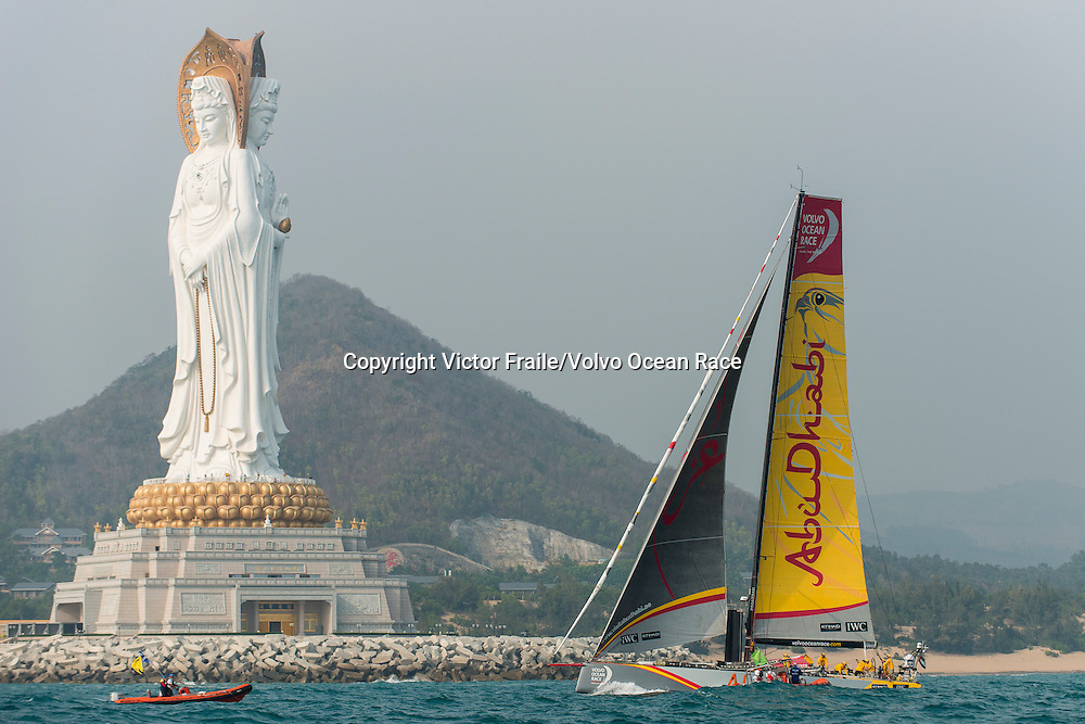 February 8, 2015. Leg 4 Start; Abu Dhabi Ocean racing