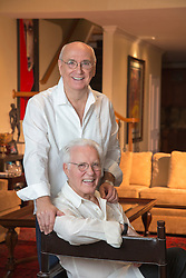 mature gay couple at home together