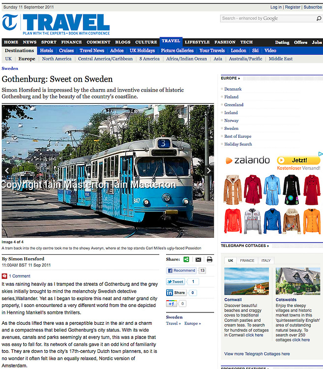 Telegraph Gothenburg travel