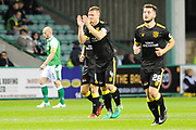 4 Alan Lithgow scores goal during the Betfred Scottish Cup match between Hibernian and Livingston at Easter Road, Edinburgh, Scotland on 19 September 2017. Photo by Kevin Murray.