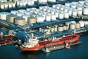 America's transportation infrastructure includes an unseen network of ships, tanks, pipelines, and trucks that ultimately move fuel to end users at the pump.  The Houston Ship Channel on the Gulf Coast is a central hub for receiving imported oil.