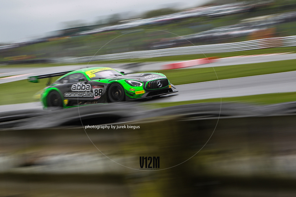 Team Abba with Rollcentre Racing | Mercedes AMG GT3 | Richard Neary | Martin Short | British GT Championship | Oulton Park | 17 April 2017 | Photo: Jurek Biegus