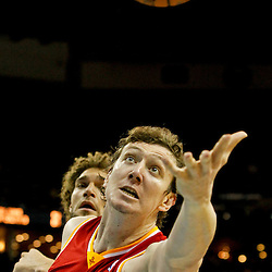 Jan 9, 2013; New Orleans, LA, USA; Houston Rockets center Omer Asik (3) reaches for a loose ball against the New Orleans Hornets during third quarter of a game at the New Orleans Arena. The Hornets defeated the Rockets 88-79. Mandatory Credit: Derick E. Hingle-USA TODAY Sports