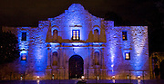 The Alamo was turned blue, thanks to the American Diabetes Association, the Juvenile Diabetes .Research Foundation, University Health System, The University of Texas Health .Science Center at San Antonio, City, County and State officials  on Nov 14, 2008.  The Alamo will join the Eiffel Tower, the Leaning Tower of Pisa, the .Sydney Opera House and some 200 other landmarks across the world in going .?blue? for the 2nd Annual United Nations? World Diabetes Day.  The Daughters of the Republic of Texas granted permission to light the Alamo blue  in .celebration of World Diabetes Day. The local coalition thanks Dianne MacDiarmid, DRT Alamo .Committee chairman; David Stewart, director of the Alamo; and Laura Garza, events coordinator, .for this goodwill gesture. This information comes from the University Health Systems.  Photo by Lance Cheung/PhotoShelter