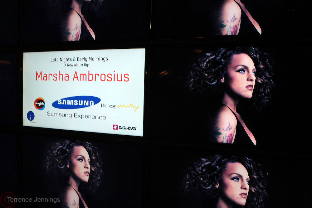 1 March 2011- New York, NY-Atmosphere at the record release party for Marsha Ambrosius's  debut solo album  ' Late Nights and Early Mornings ' presented by J Records, DIgiwaxx, Hennessey and BET Centric and held at the Samsung Experience at The Time Warner Center on March 1, 2011 in New York City. Photo Credit: Terrence Jennings
