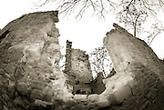 Monte Venere, Italy, WWII rural bombing damage left as is