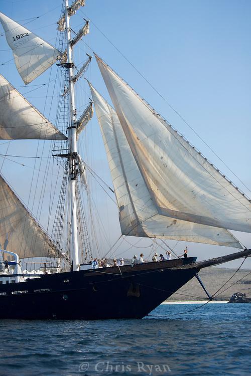 Square-rigger tall sailing ship, Galapagos