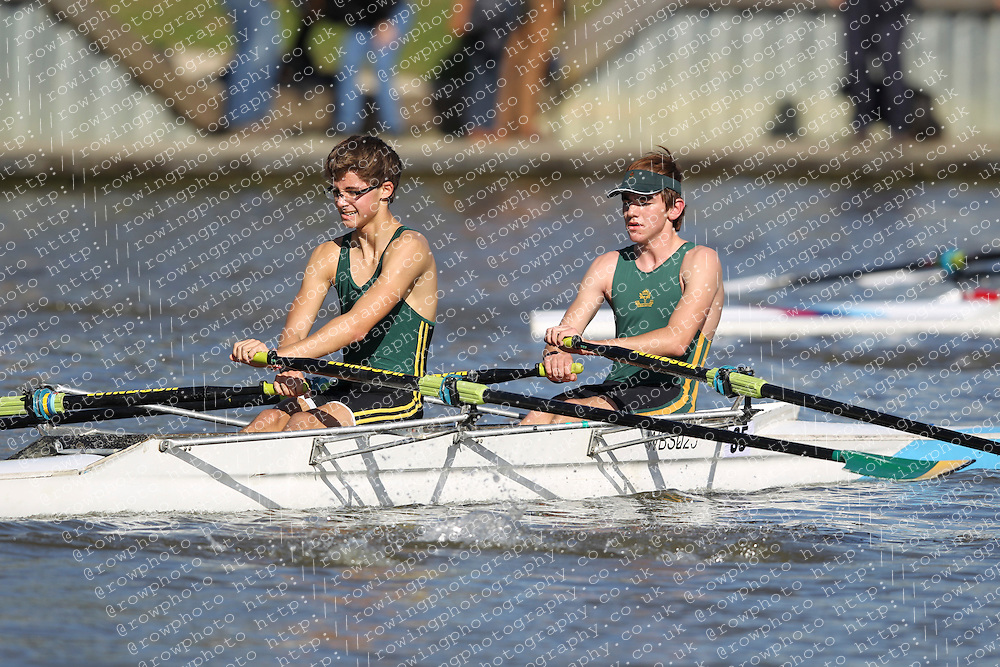 29.09.2012. Wallingford Long Distance Sculls 2012, The River Thames. Division 1. J16A 2x. Windsor Boys School Boat Club.