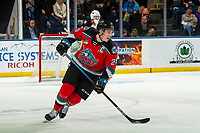 KELOWNA, BC - NOVEMBER 1: Nolan Foote #29 of the Kelowna Rockets skates his first home game as captain against the Prince George Cougars at Prospera Place on November 1, 2019 in Kelowna, Canada. (Photo by Marissa Baecker/Shoot the Breeze)