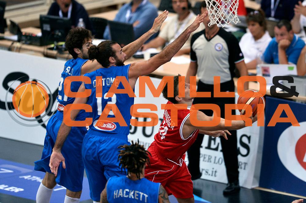 DESCRIZIONE : Trento Nazionale Italia Uomini Trentino Basket Cup Italia Austria Italy Austria<br /> GIOCATORE : Moritz Lanegger<br /> CATEGORIA : tiro<br /> SQUADRA : Austria<br /> EVENTO : Trentino Basket Cup<br /> GARA : Italia Austria Italy Austria<br /> DATA : 31/07/2015<br /> SPORT : Pallacanestro<br /> AUTORE : Agenzia Ciamillo-Castoria/Max.Ceretti<br /> Galleria : FIP Nazionali 2015<br /> Fotonotizia : Trento Nazionale Italia Uomini Trentino Basket Cup Italia Austria Italy Austria