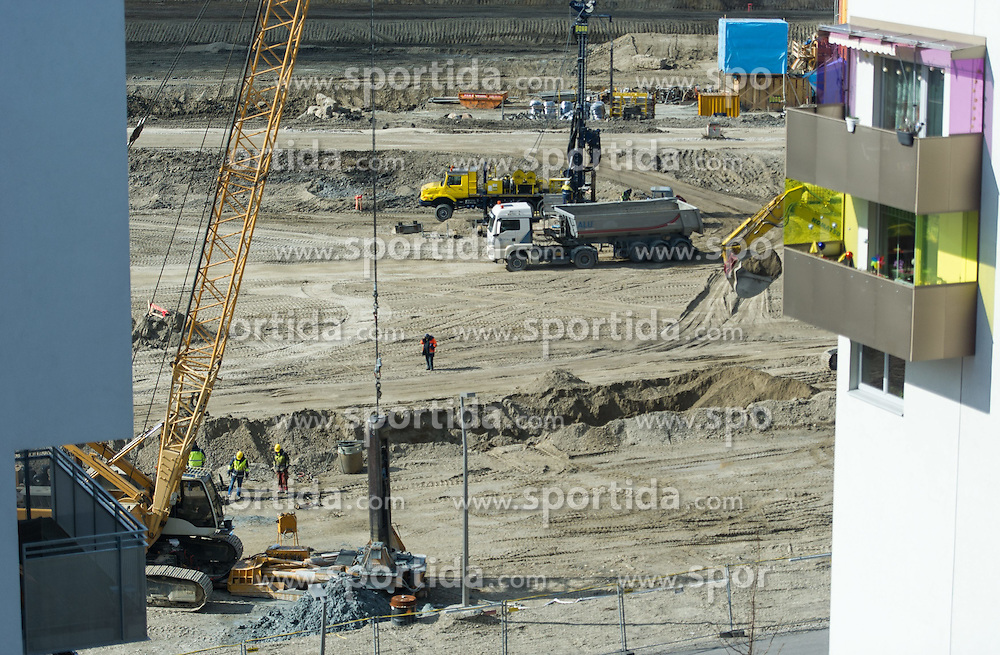 THEMENBILD - Wohnungsbau in Wien. Aufgenommen am 05.03.2015 in Wien, Österreich // Housing Construction in Vienna, Austria on 2015/03/05. EXPA Pictures © 2015, PhotoCredit: EXPA/ Michael Gruber