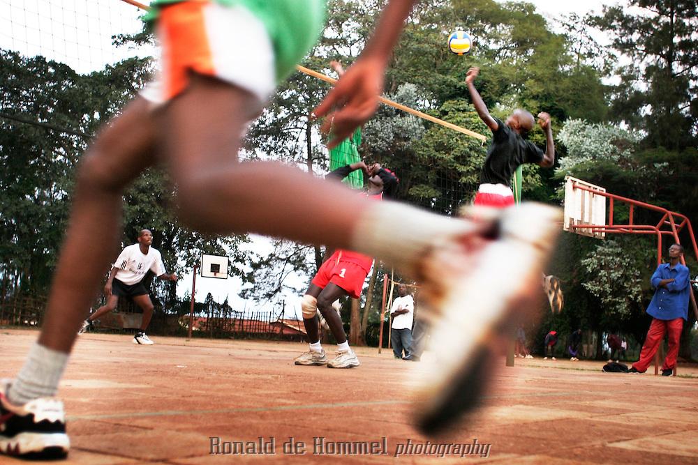 Kigali Volleyball training of KVC Kigali Volleyball Club in Rwanda.