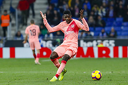 December 8, 2018 - Barcelona, Catalonia, Spain - FC Barcelona forward Ousmane Dembele (11) during the match RCD Espanyol against FC Barcelona, for the round 15 of the Liga Santander, played at RCD Espanyol Stadium  on 8th December 2018 in Barcelona, Spain. (Credit Image: © Mikel Trigueros/NurPhoto via ZUMA Press)