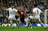 Photo: Tom Dulat.<br /> <br /> Tottenham Hotspur v Blackburn Rovers. The FA Barclays Premiership. 28/10/2007.<br /> <br /> David Bentley of Blackburn Rovers and Steed Malbranque of Tottenham Hotspur with the ball.