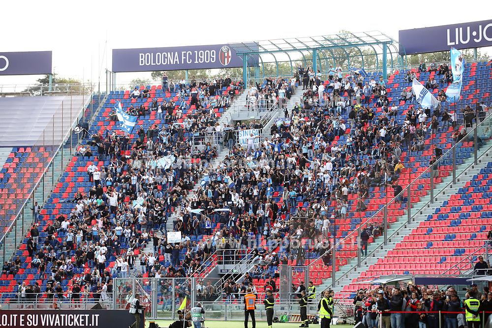 """Foto Filippo Rubin<br /> 06/10/2019 Bologna (Italia)<br /> Sport Calcio<br /> Bologna - Lazio - Campionato di calcio Serie A 2019/2020 - Stadio """"Renato Dall'Ara""""<br /> Nella foto: I TIFOSI DELLA LAZIO<br /> <br /> Photo by Filippo Rubin<br /> October 06, 2019 Ferrara (Italy)<br /> Sport Soccer<br /> Bologna vs Lazio - Italian Football Championship League A 2019/2020 - """"Dall'Ara"""" Stadium <br /> In the pic: LAZIO SUPPORTERS"""
