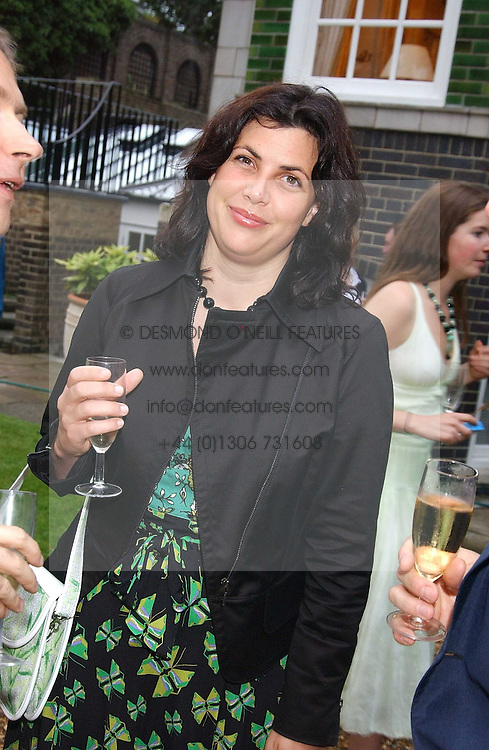The HON.KIRSTY ALLSOPP at the No Campaign's Summer Party - a celebration of the 'Non' and 'Nee' votes in the Europen referendum in France and The Netherlands held at The Peacock House, 8 Addison Road, London W14 on 5th July 2005.<br />