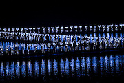Members of the Impression Sanjie Liu performing a light and sound show directed by Zhang Yimou, Yangsuo, China
