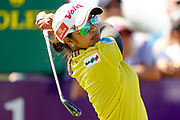 Pornanong Phatlum drives off during the Final day of the Ricoh Women's British Open golf tournament at Royal Lytham and St Annes Golf Club, Lytham Saint Annes, United Kingdom on 5 August 2018. Picture by Simon Davies.