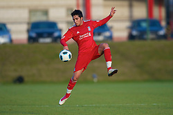 LIVERPOOL, ENGLAND - Tuesday, January 11, 2011: Liverpool's Gerardo Alfredo Bruna Blanco in action against Sunderland during the FA Premiership Reserves League (Northern Division) match at the Kirkby Academy. (Pic by: David Rawcliffe/Propaganda)