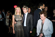 LADY HELEN TAYLOR; TIM TAYLOR; BRIDGET RILEY. The Summer Party. Hosted by the Serpentine Gallery and CCC Moscow. Serpentine Gallery Pavilion designed by Frank Gehry. Kensington Gdns. London. 9 September 2008.  *** Local Caption *** -DO NOT ARCHIVE-© Copyright Photograph by Dafydd Jones. 248 Clapham Rd. London SW9 0PZ. Tel 0207 820 0771. www.dafjones.com.