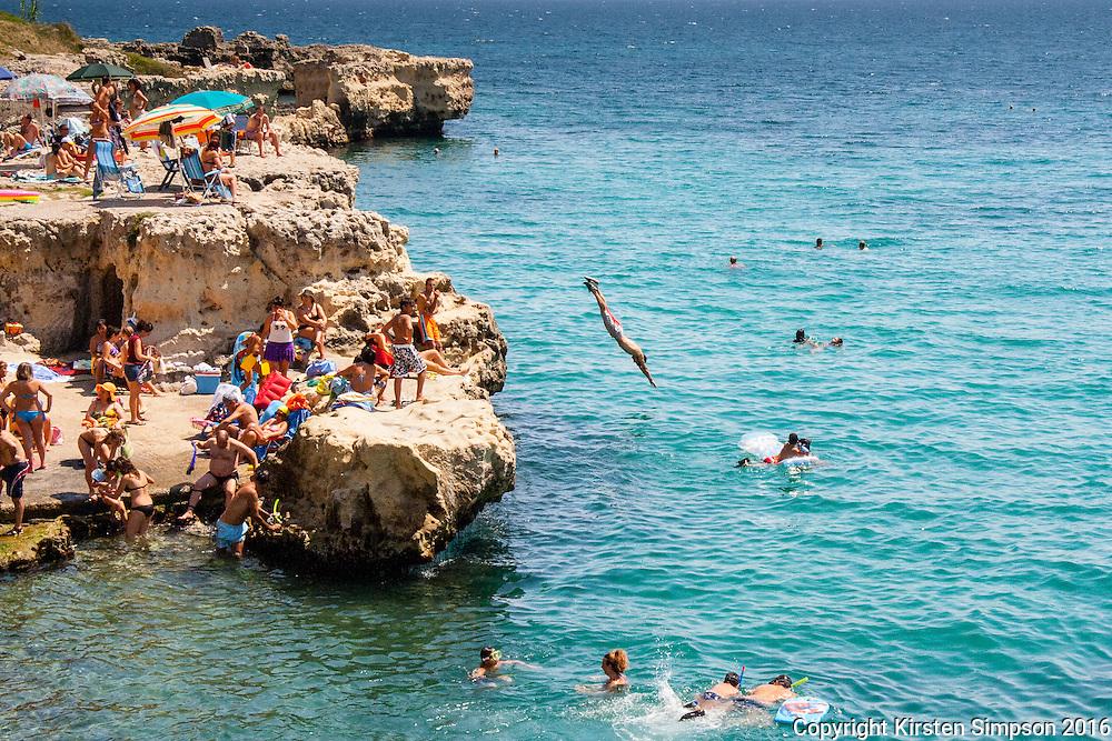 Town beach in Otranto