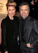 Feb 8, 2015 - EE British Academy Film Awards 2015 - Red Carpet Arrivals at Royal Opera House<br /> <br /> Pictured: Mark Ruffalow and Sunrise Coigney<br /> ©Exclusivepix Media