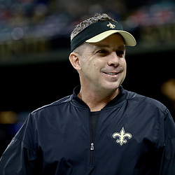 Dec 24, 2016; New Orleans, LA, USA; New Orleans Saints head coach Sean Payton against the Tampa Bay Buccaneers before a game at the Mercedes-Benz Superdome. Mandatory Credit: Derick E. Hingle-USA TODAY Sports