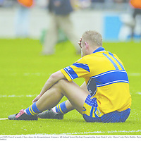 14 August 2005; Tony Carmody, Clare, shows his dissapointment. Guinness All-Ireland Senior Hurling Championship Semi-Final, Cork v Clare, Croke Park, Dublin. Picture credit; Ray McManus / SPORTSFILE