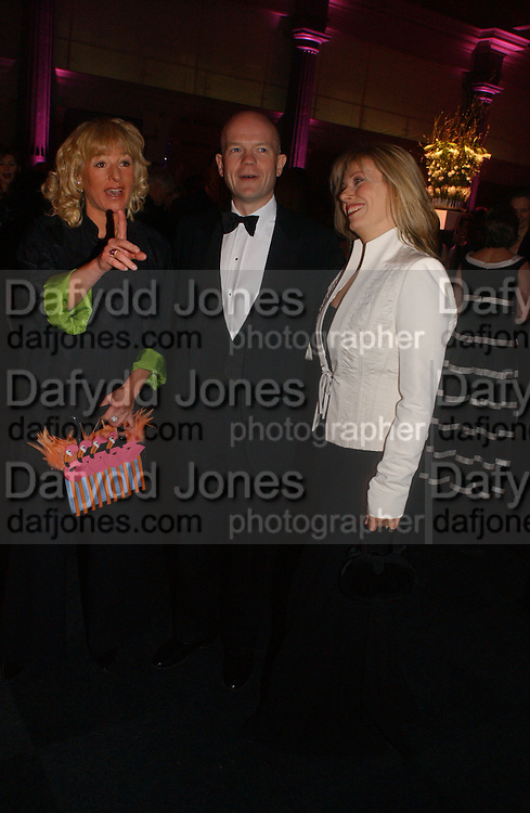 Carol Thatcher, William and Ffion Hague. The Black and White Winter Ball. Old Billingsgate. London. 8 February 2006. -DO NOT ARCHIVE-© Copyright Photograph by Dafydd Jones 66 Stockwell Park Rd. London SW9 0DA Tel 020 7733 0108 www.dafjones.com