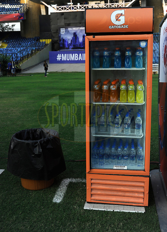 Fridge during match 43 of the Indian Super League (ISL) season 2  between Chennaiyin FC and Kerala Blasters FC held at the Jawaharlal Nehru Stadium, Chennai, Tamil Nadu, India on the 21st November 2015.<br /> <br /> Photo by Pal Pillai / ISL/ SPORTZPICS