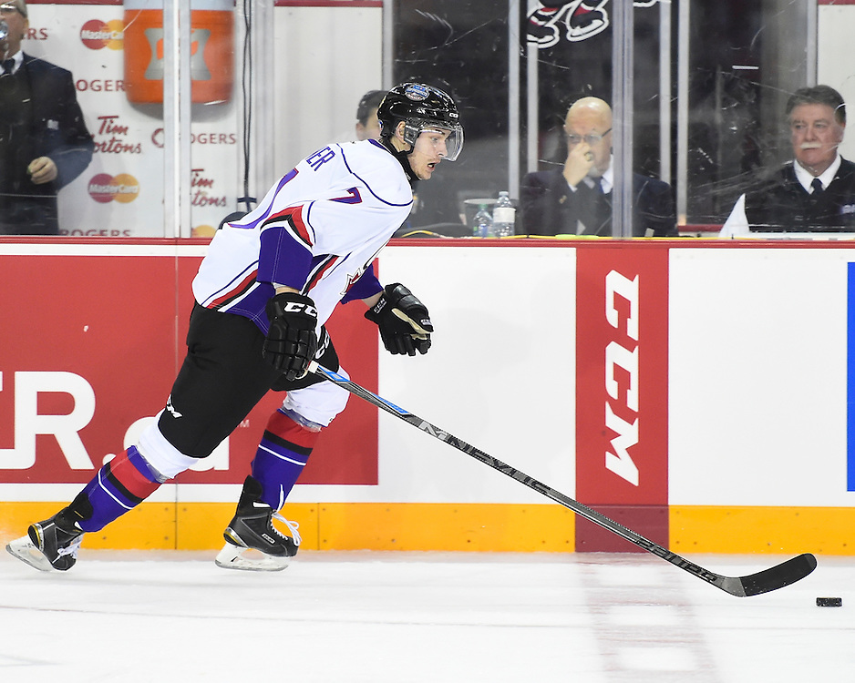 Action from the 2015 BMO CHL/NHL Top Prospects Game on Thursday January 22, 2015 in St. Catharines, Ontario. Photo by Aaron Bell/CHL Images