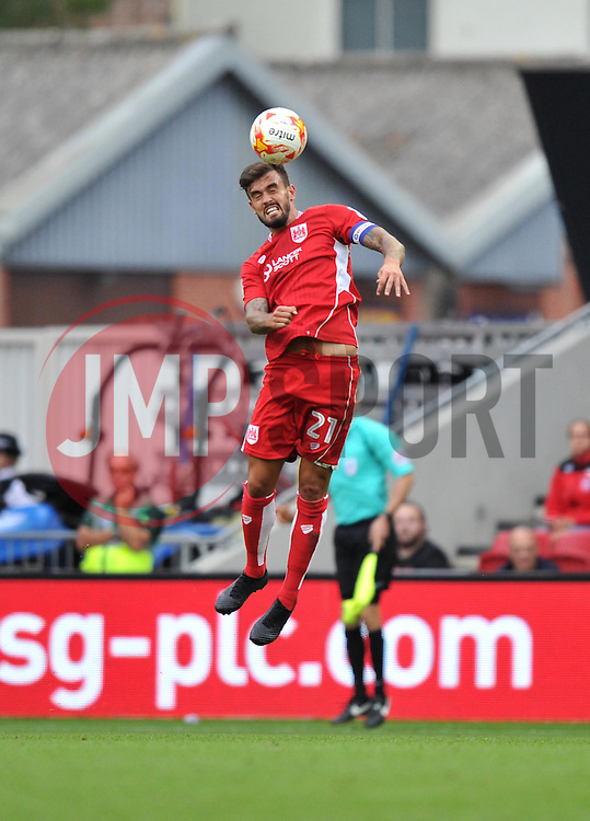 Marlon Pack of Bristol City heads the ball - Mandatory by-line: Paul Knight/JMP - 17/09/2016 - FOOTBALL - Ashton Gate Stadium - Bristol, England - Bristol City v Derby County - Sky Bet Championship